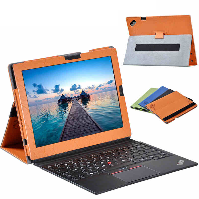 New Leather Flip Case Cover For Lenovo Thinkpad x1 tablet 12.2 inch Tablet Magnet Stand Cover For Lenovo Thinkpad x1 tablet new original for lenovo thinkpad helix 2 thinkpad 10 gen2 p50 p70 x1 tablet stylus pen wacom actpen ln 00hn890