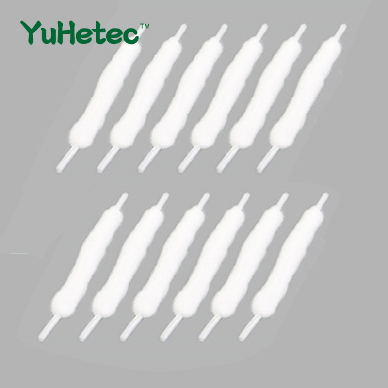 100PCS YUHETEC 100mm Shoelace like assembly Oil guide cotton Swabs for E-Cigarette