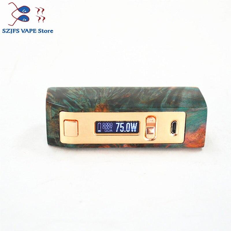 100% Original Yiloong brumisateur régulé bois stabilisé boîte mod 167 w TC Squonk MOD Max 167 W sortie 18650 batterie boîte Mod Vape Mod - 6