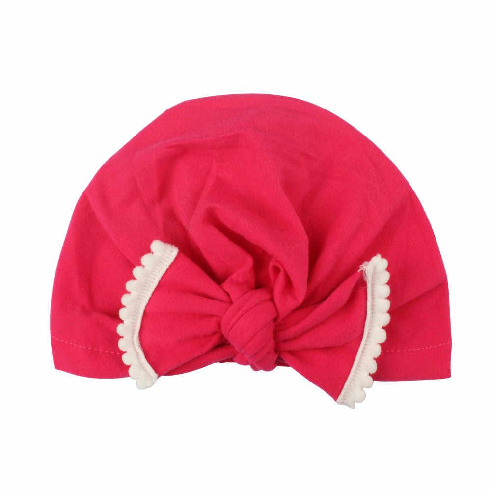 ใหม่ฤดูใบไม้ร่วงฤดูหนาวเด็กหมวกผ้าฝ้ายหมวกเด็กสาวเจ้าหญิงน่ารักขนาดใหญ่โบว์เด็กหมวกหมวกหมวกเด็กหมวก 2019 ใหม่