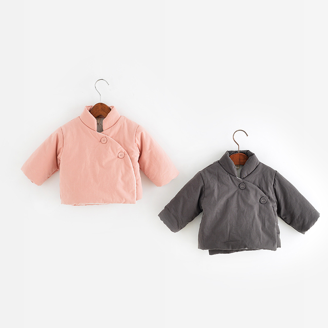 Chinese Style Well-designed with High Quality Children's Clothes Autumn/Winter Solid Cotton Coat
