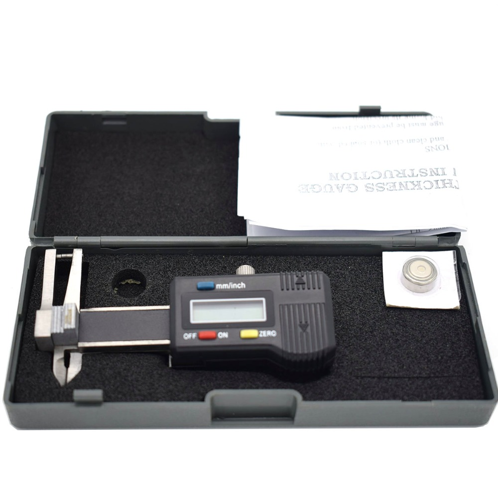 Mini Thickness Gauge Caliper 0-25mm With 0.01mm Electronic Digital Readout For Jewelry Gemstone Diamond
