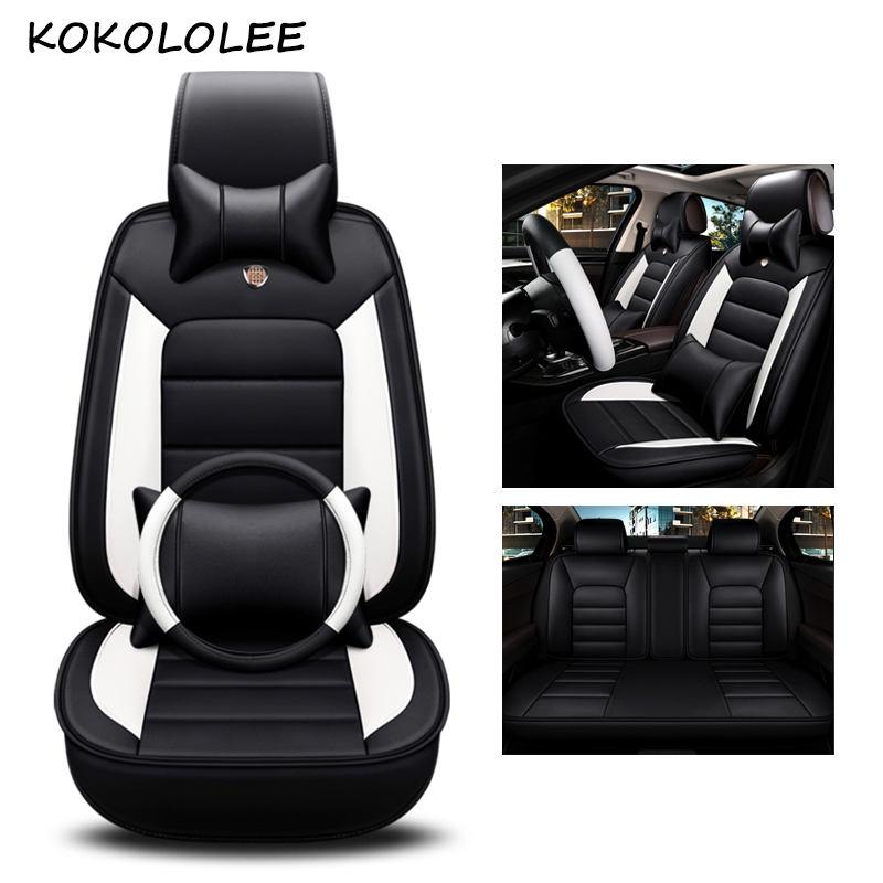 kokololee pu leather car seat cover For peugeot 308 508 3008 kia soul ceed nissan leaf toyota vitz car styling auto accessories kokololee car seat cover set for toyota chevrolet chery skoda nissan x trail honda corolla opel astra volvo kia car seat protect
