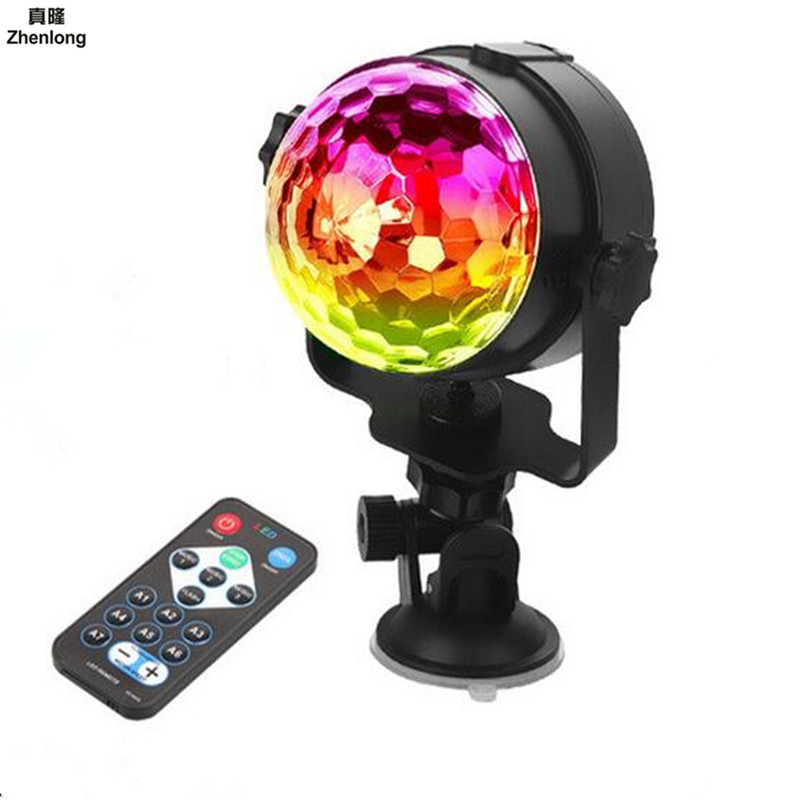 5V USB Stage Effect Light IR Remote RGB LED Crystal Magic Rotating Ball Lights Colorful for Party KTV DJ Disco Car Home Club LED