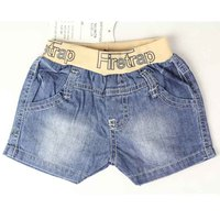 Baby Jeans Letters And Numbers Embroidered Decorative Children Elastic Waistband Short Pants Boy Shorts Summer Style