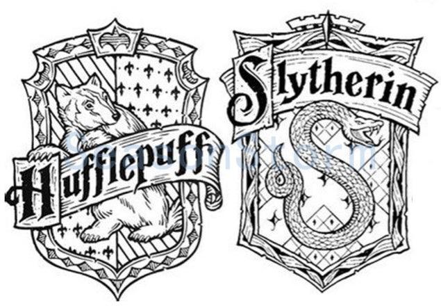 1 Pcs Harry Potter Hufflepuff Slytherin Stamp Diy Self