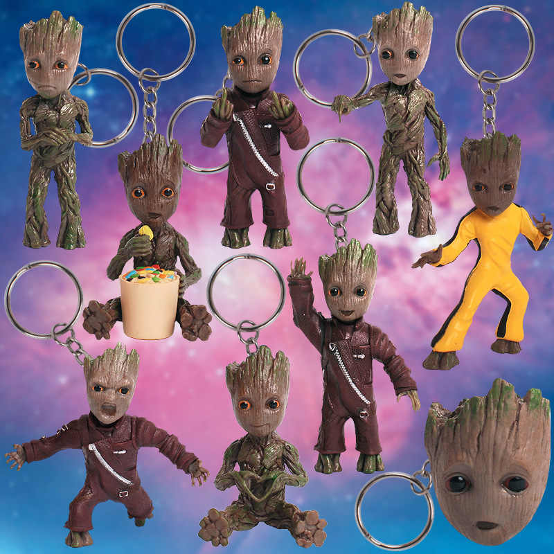 8 Styles Baby Tree Man Toy Doll Grootted Action Figure Film Movie Avengers 4 Guardians of the Galaxy Gift Kids Fans