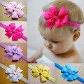 5 Pcs/lot Cute Kids Baby Girls Headband Toddler Infant Chiffon Bowknot Headbands Solid Color Hair Bows Hair Band Accessories