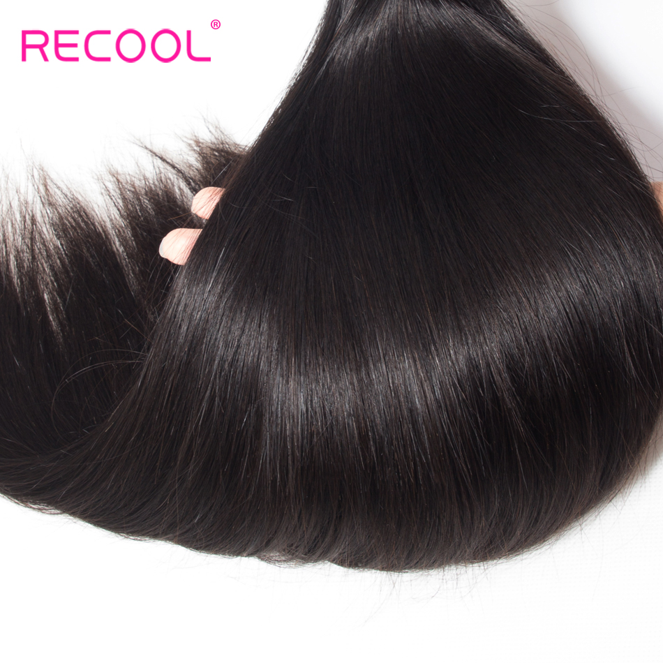 Image 4 - Recool Straight Hair Bundles 10  30 32 34 36 38 40 Inch Brazilian Hair Weave Remy Cuticle Aligned Human Hair Extension Bundles-in Hair Weaves from Hair Extensions & Wigs
