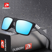 DUBERY Brand Design Polarized Sunglasses Men Driver Shades Male Vintage Sun Glasses For Men Spuare Colorful Summer UV400 Oculos(China)