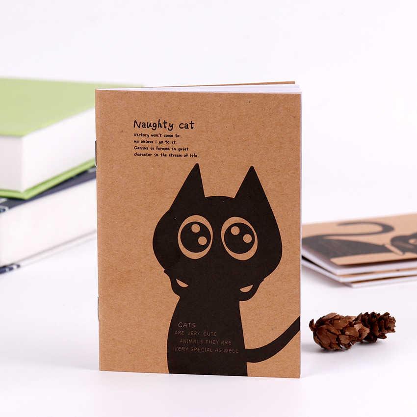 1PC מיני Kawaii חתול וקרקס Journal יומן ריק קראפט נייר בציר רטרו פנקס ספר לילדים מכתבים מתנה