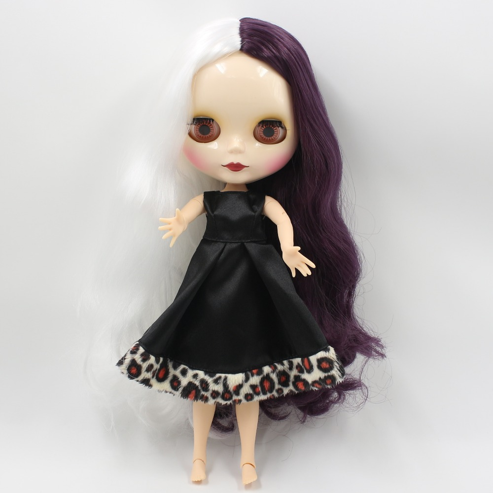 все цены на ICY factory blyth doll bjd neo 136/135 white mix purple Hair centra parting joint body Toy gift 1/6 30cm
