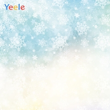 Yeele Wallpaper Blue Background Fallen Snowflake Photography Backdrops Personalized Photographic Backgrounds For Photo Studio