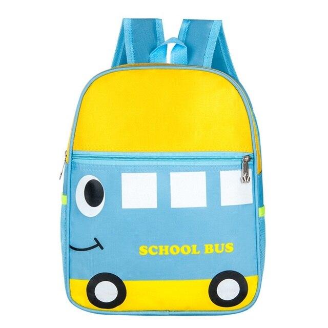 Cute Cartoon Kid School Bags Toddler Book Bag Kindergarten Rucksack Backpack  Children Girl Boy Mochila Bus Car Ladybug Frog Duck 341a341e9ac3c