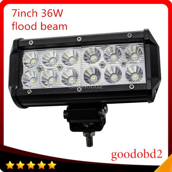 7Inch 36W  LED Work Light Bar for Motorcycle Driving Offroad Boat Car Tractor Truck 4x4 SUV ATV Flood beam light working light от Aliexpress INT