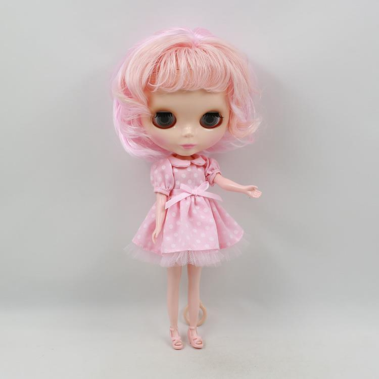 Blyth doll nude 1/6 bjd doll suit for mom diy face doll pink short hair with bangs fashion bjd dolls for sale  free shipping neo blyth nude doll light gold hair with bangs suit for diy fashion dolls