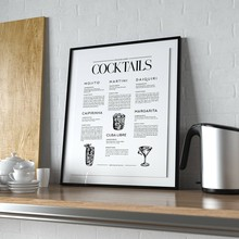 Cocktails Posters And Prints Art Canvas Painting Wall Pictures Kitchen Bar Cart Dorm Wall Art Decorations(China)