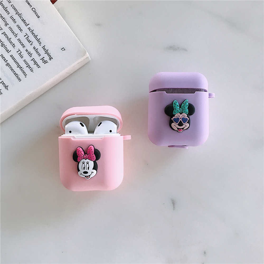 Original case for airpods Mickey Minnie Donald Donald Duck Dumbo For Apple Airpods 1 2 Silicone Protection Earphone Cover