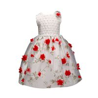 New Arrival 2017 Sweet Listed Fashion Flower Girl Baby Princess Embroideried Pageant Dress Prom Party Tutu Tulle Dress