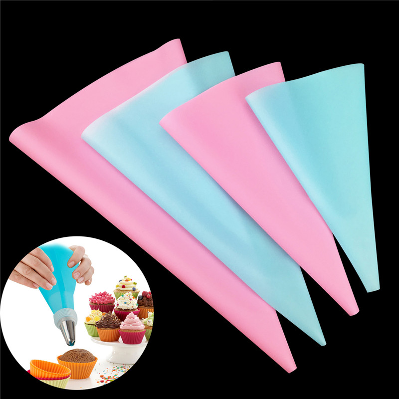 TTLIFE 4pcs Confectionery Bag Silicone Icing Piping Cream Pastry Bag Nozzle DIY Cake Decorating Baking Decorating Tools 4 Sizes in Dessert Decorators from Home Garden