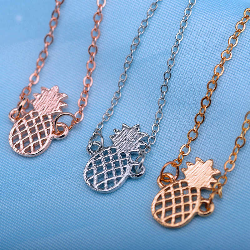 Minimalizm Ananas bransoletka dla kobiet prezenty Dainty biżuteria 2019 przyjaźń bransoletka ze stali nierdzewnej z różowego złota Ananas Femme