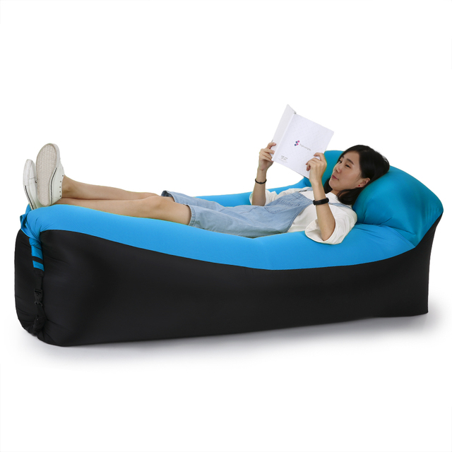 Inflatable Sofa Air Bed Lounger Chair Couch Sleeping Bag Mattress Seat Camping Lazy