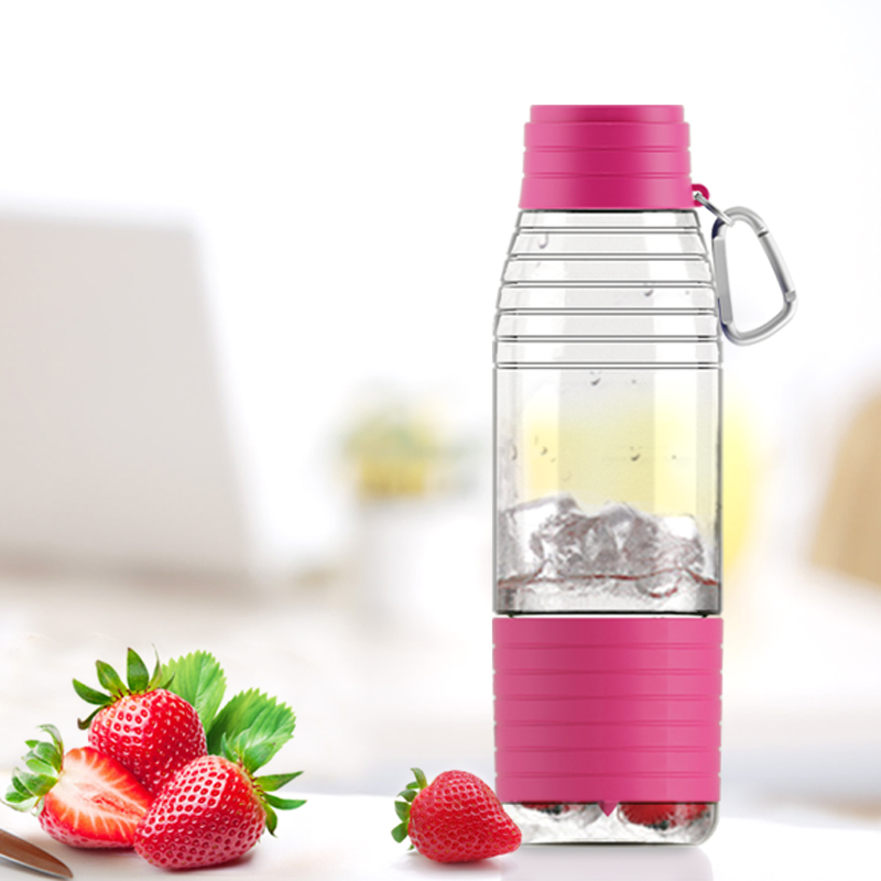 600ML cup Vitamin C Lemon Juice Authentic Vitality Plastic Cups With Lid Rope Portable Glass Kids