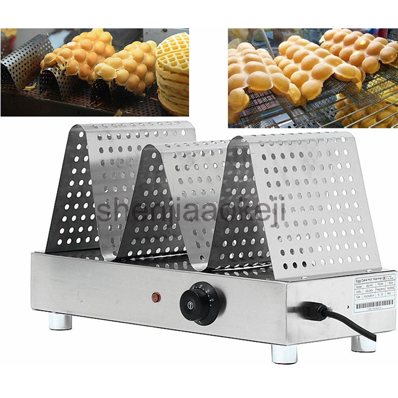 Stainless Steel Commercial Waffle Cake Warmer Household Electric preserve heat showcase Egg Waffle Warming machine 1pc seanna кардиган сливочный зигзаг