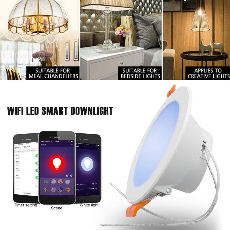 Super Slim светильники WI-FI rgbw-контроль Smart 7 W декоративный прожектор приложение Управление бар светильники Главная Вечерние многоцветный