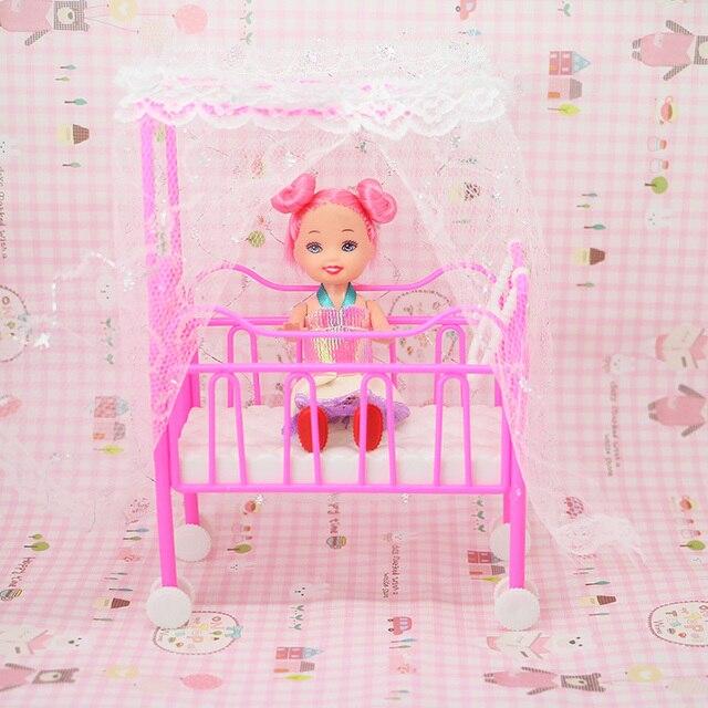 Kleine Süße Puppe Haus Baby Prinzessin Bett Traum Schrank Mädchen ...