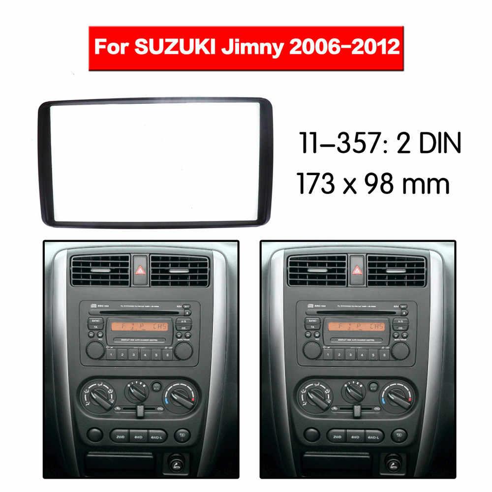 La Radio del coche de la Fascia Multimedia Kit de marco para SUZUKI Jimny 2006-2012 Facia del Panel frontal CD 2 Din Audio bisel Kit de montaje