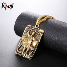 Buy saint michael pendant and get free shipping on aliexpress kpop saint michael archangl stainless steel mozeypictures Gallery