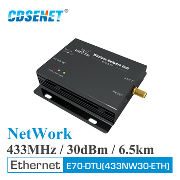 цена на Ethernet Star Network 433MHz 30dBm 1W Long Range Wireless Transceiver E70-DTU(433NW30-ETH) IoT PLC Data Transmission RF Module