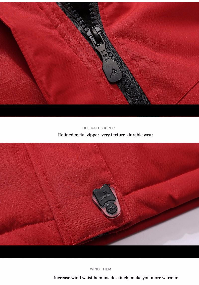 UNCO&BOROR winter jackets men women`s outwear fleece thick warm cotton down coat waterproof windproof parka men brand clothing 25