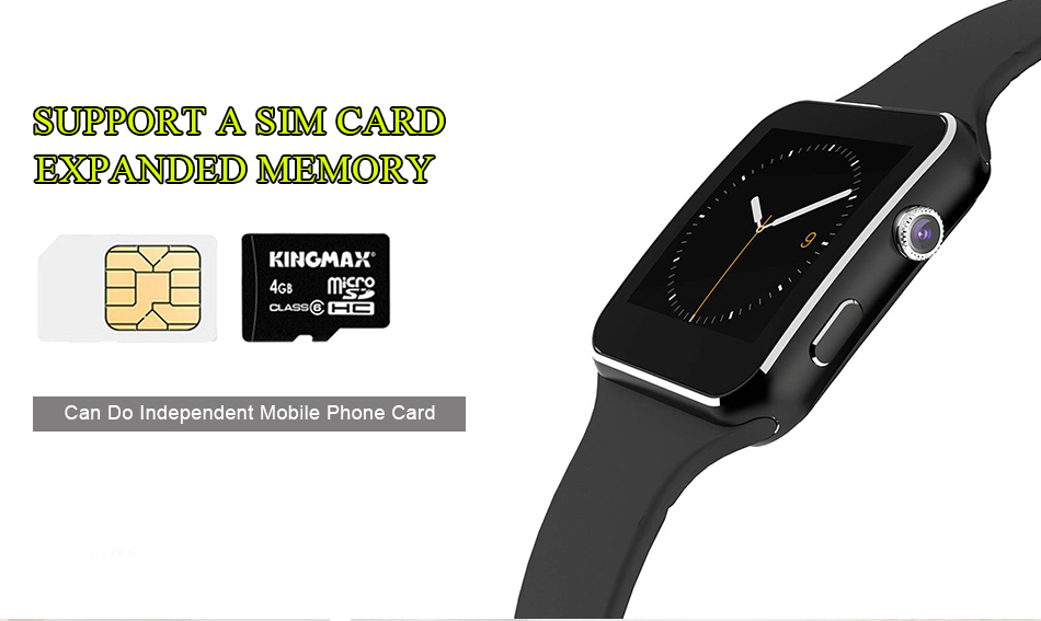 Smart watch touch screen X6 compatible with SIM card TF for IPhone Xiaomi Android IOS