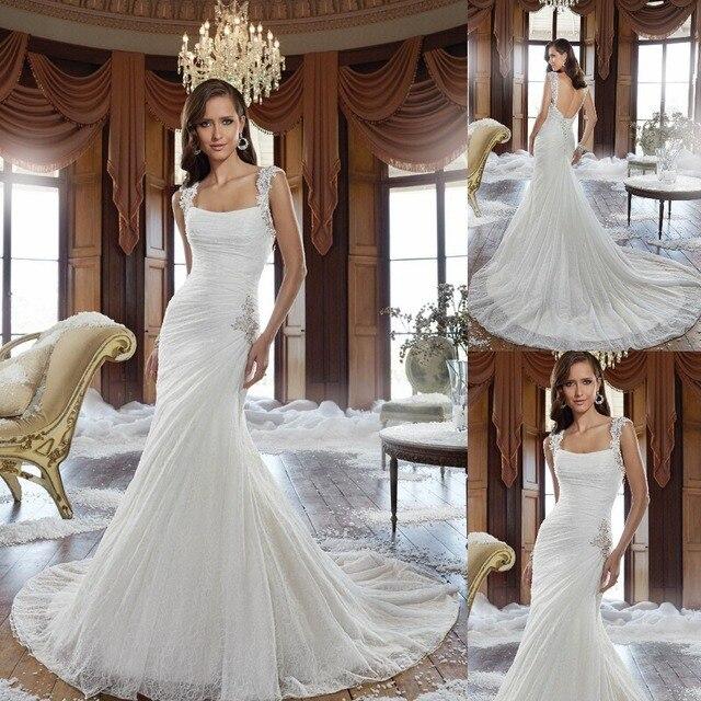 Einfache Und Elegante Hochzeitskleid Low Back Herrlichen Korsett ...