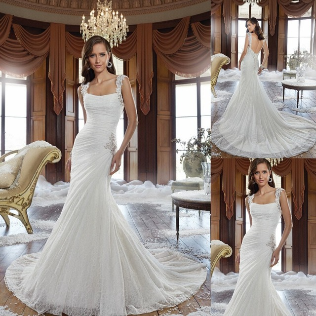 Charmant Simple And Elegant Wedding Dress Low Back Gorgeous Corset Vintage Feel Long Bridal  Gowns With Laced