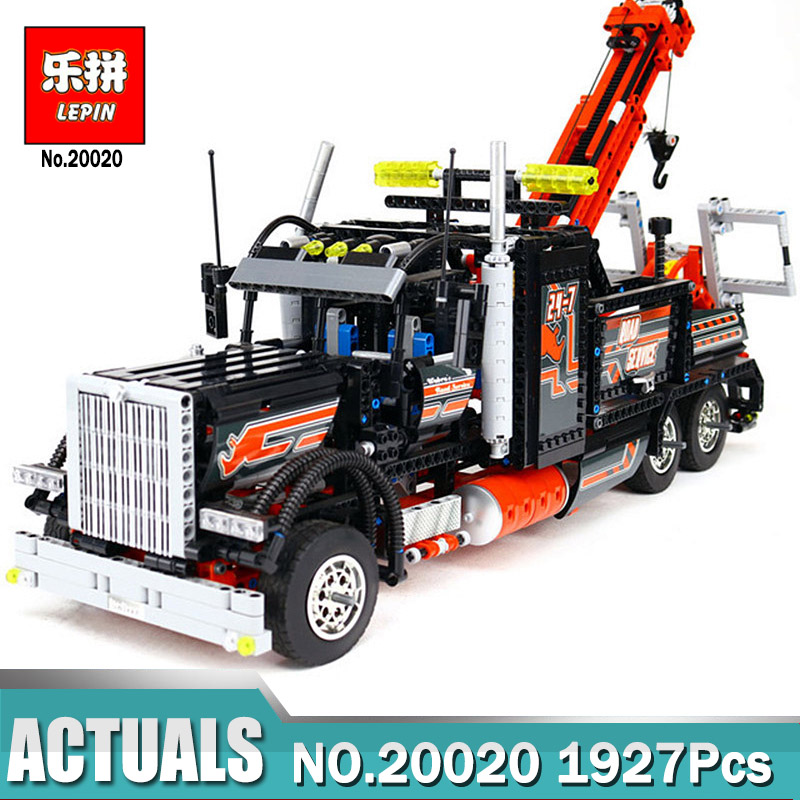 Lepin 20020 Technic Mechanical Ultimate Series The American Style Heavy Container Trucks Set Compatible 8258 Block Toys for Boy