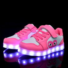 Casual Rechargeable USB Colorful Lights Shoes Boys New Kids Led Sport Running Shoe Girls Luminous Children