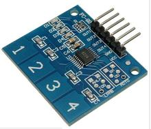 1pcs NEW 4Channel Digital Touch Sensor Capacitive Switch Module Button For Arduino TTP224