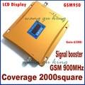 GSM 950 Repetidor De Sinal GSM 900 MHZ Mobile Phone Sinais Impulsionador Repetidor Display LCD GSM Repetidor, capa 500-2000 metro quadrado