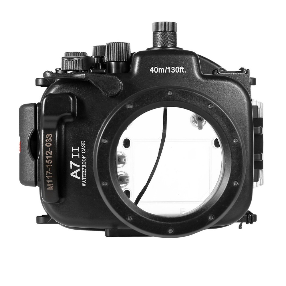 For Sony A7 II A7R II 28-70mm Meikon Waterproof Housing Case 40M 130ft Diving Underwater Photography Equipment 40m 130ft waterproof underwater camera diving housing case aluminum handle for sony a7 a7r a7s 28 70mm lens camera