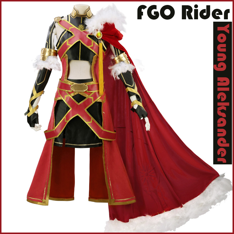 [Stock]Game Anime Fate Grand Order FGO Rider figure Young Aleksander Uniform Halloween Cosplay costume New 2018 free shipping