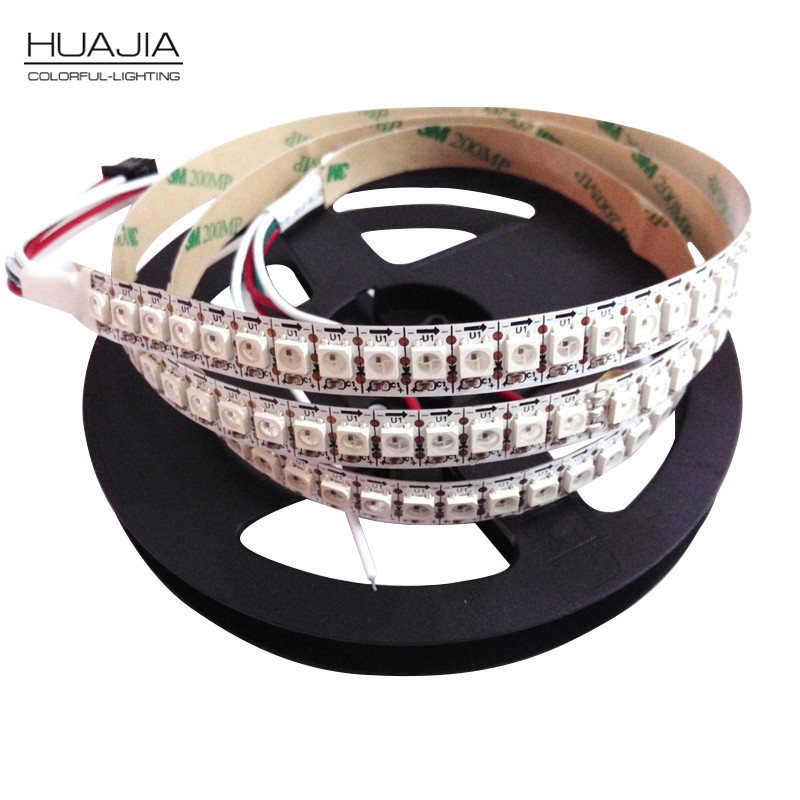2M WS2812B 5050 RGB LED Strip Light 144LED M Black White PCB Individual Addressable LED Strip