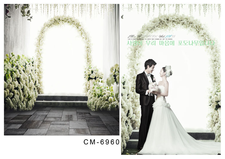 Allenjoy 6.5ftx10ft wedding Background Photography backdrop romantic aesthetic flower door Brick Studio For custom size photo