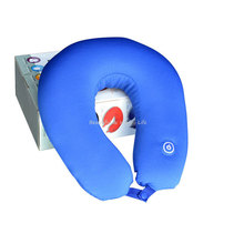 Electric Massage Pillow Neck Massager Battery Operated Vibrating Microbead Pillow Relax Soft Body Massager Health Care Equipment