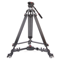 JIEYANG JY0508 Professional Camera Video Tripod Dslr Tripods Fluid Head Damping Accessories JY 0508 Tripodes Para