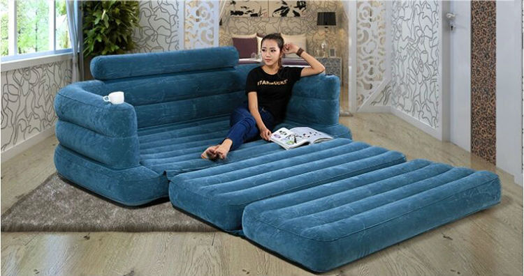 Free Shipping Intex Luxury Double Large Inflatable Sofa Bed Lazy Sofa  Leisure Chair