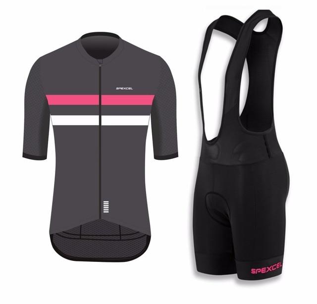 004d5e839 Wear better Spexcel Quality Short Sleeve jersey and bib short Bicycle bib  Set Ropa Maillot Cycling jersey Wear Road MTB Bike Kit