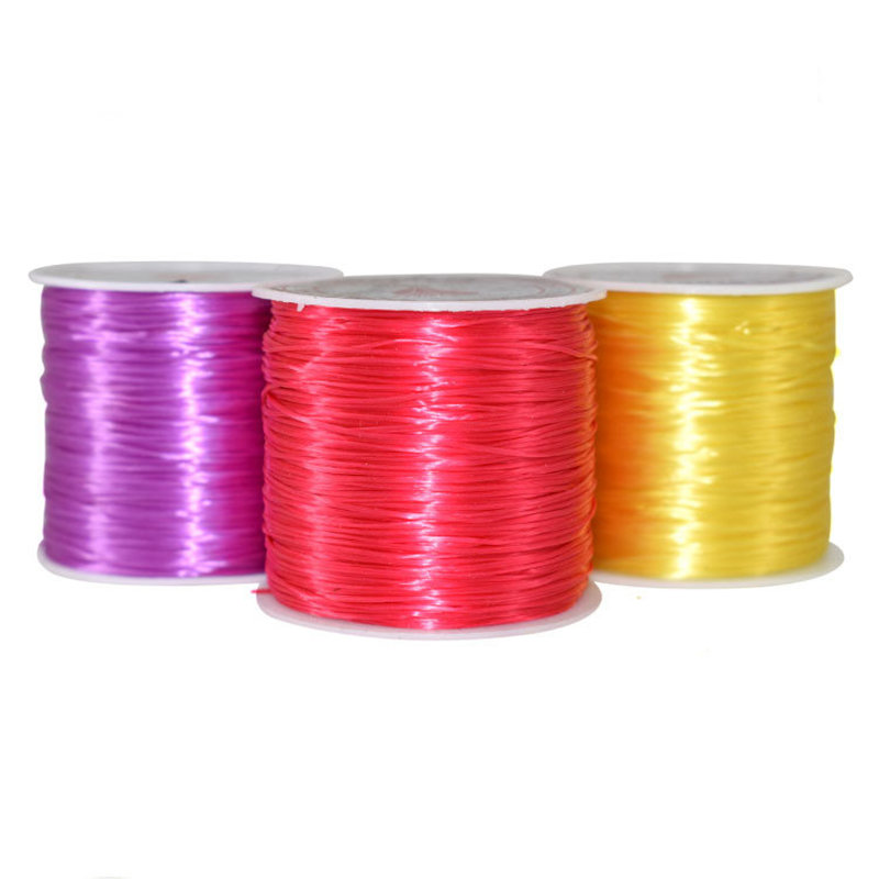Elastic Beading String Clear Yarn Stretch  Thread Spool Roll Mercerized Filament